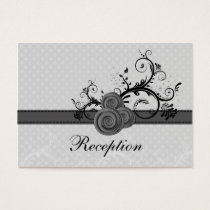 pastel gray roses wedding Reception Cards