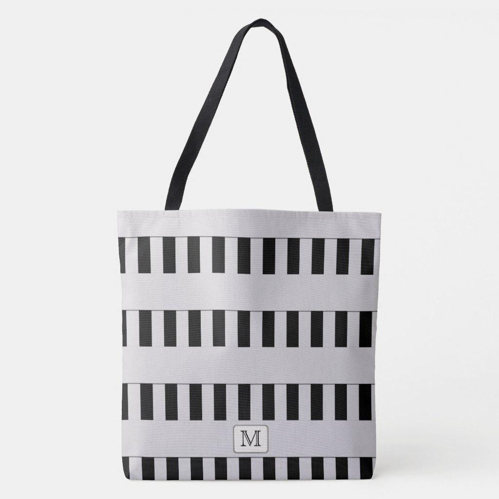 Pastel Gray Stripes on any Color Custom Monogram