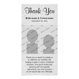 Pastel Gray Subtle Abstract Background Wedding Photo Card Template