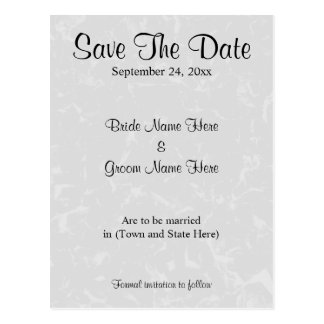 Pastel Gray Subtle Abstract Background Wedding Postcard