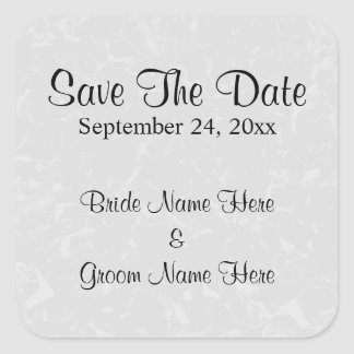 Pastel Gray Subtle Abstract Background Wedding Square Sticker