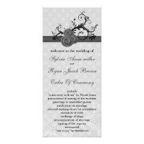 pastel gray Wedding program