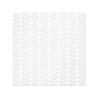 Pastel Gray Zigzag Pattern inspired by Knitting Stretched Canvas Prints