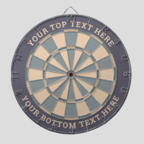 Pastel Grays Dartboard with Custom Text