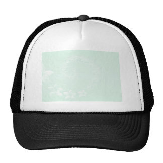 Pastel Green Abstract Flowers Mesh Hats