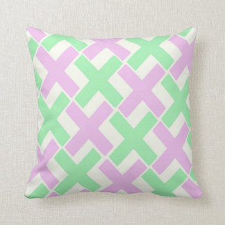 Pastel Green and Lavender Xs Throw Pillow