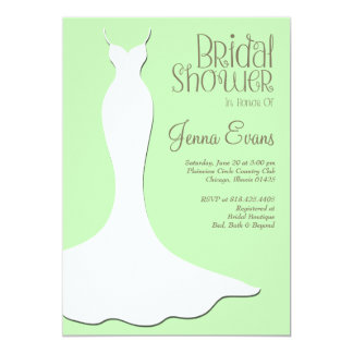 Pastel Green Bridal Shower Elegant Vintage Card