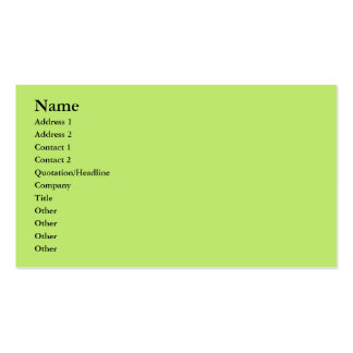 pastel green business card