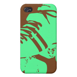 Pastel Green & Chocolate Roller Skate iPhone Case