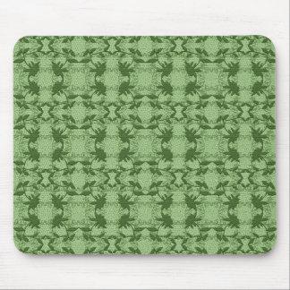 Pastel Green Floral Lace Pattern  Mousepad