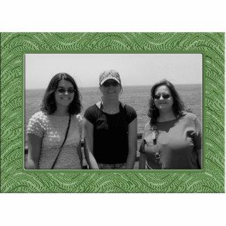 pastel green  frame cutout