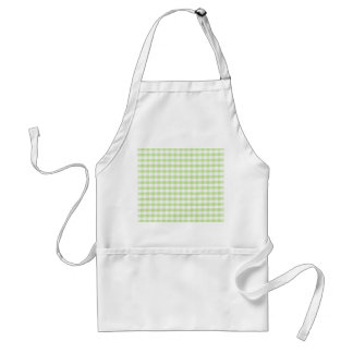 Pastel Green Gingham pattern Adult Apron