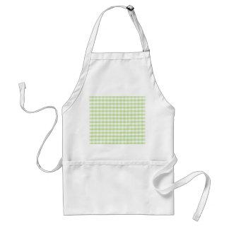 Pastel Green Gingham pattern Adult Apron