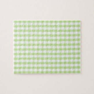 Pastel Green Gingham pattern Jigsaw Puzzle