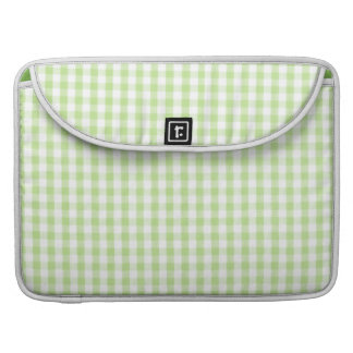 Pastel Green Gingham pattern Sleeve For MacBook Pro