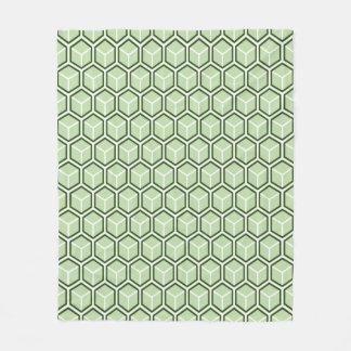 Pastel Green Honeycomb Pattern Fleece Blanket