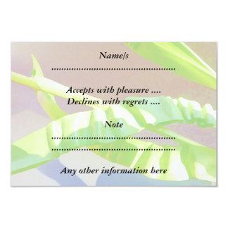 Pastel Green Leaves. Custom Invitations