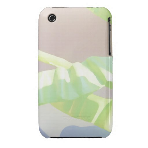 Pastel Green Leaves. iPhone 3 Case