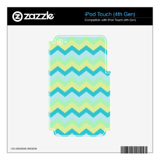Pastel Green Mix Zigzags iPod Touch 4G Decal