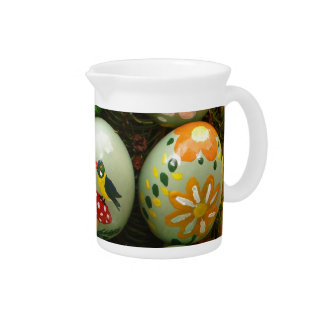 Pastel Green Painted Eggs Beverage Pitcher
