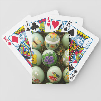 Pastel Green Painted Eggs Card Deck