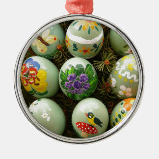 Pastel Green Painted Eggs Christmas Ornament