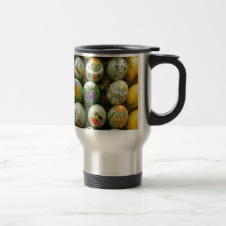 Pastel Green Painted Eggs Coffee Mug