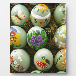 Pastel Green Painted Eggs Display Plaque