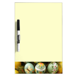 Pastel Green Painted Eggs Dry-Erase Boards