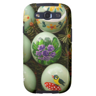 Pastel Green Painted Eggs Galaxy SIII Case