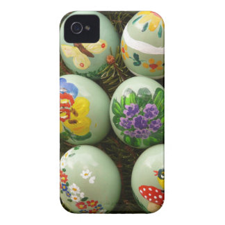 Pastel Green Painted Eggs iPhone 4 Case-Mate Cases