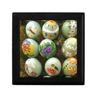 Pastel Green Painted Eggs Keepsake Box