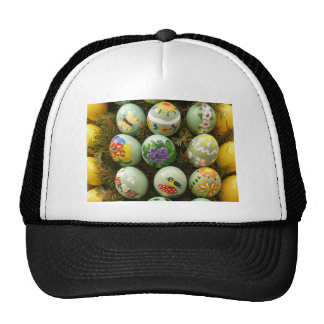 Pastel Green Painted Eggs Mesh Hat