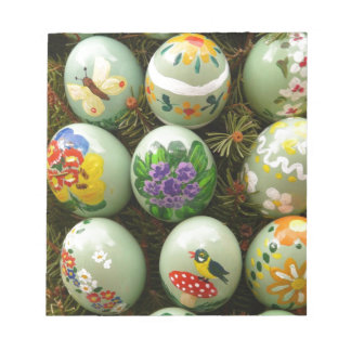 Pastel Green Painted Eggs Notepads