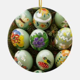 Pastel Green Painted Eggs Ornament