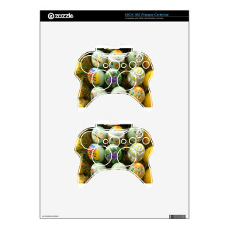Pastel Green Painted Eggs Xbox 360 Controller Skin
