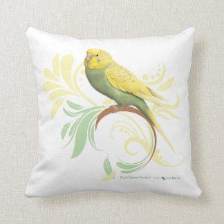 Pastel Green Parakeet Throw Pillows