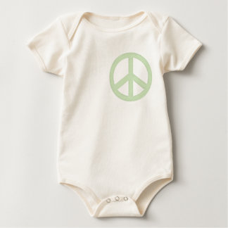 Pastel Green Peace Sign Baby Bodysuit