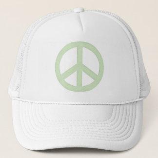 Pastel Green Peace Sign Trucker Hat