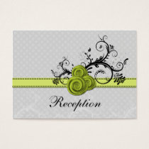 pastel green roses wedding Reception Cards