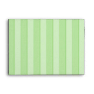 Pastel Green Stripes Elegance Envelope