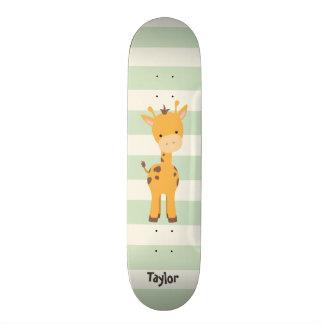 Pastel Green Stripes.jpg Skateboard