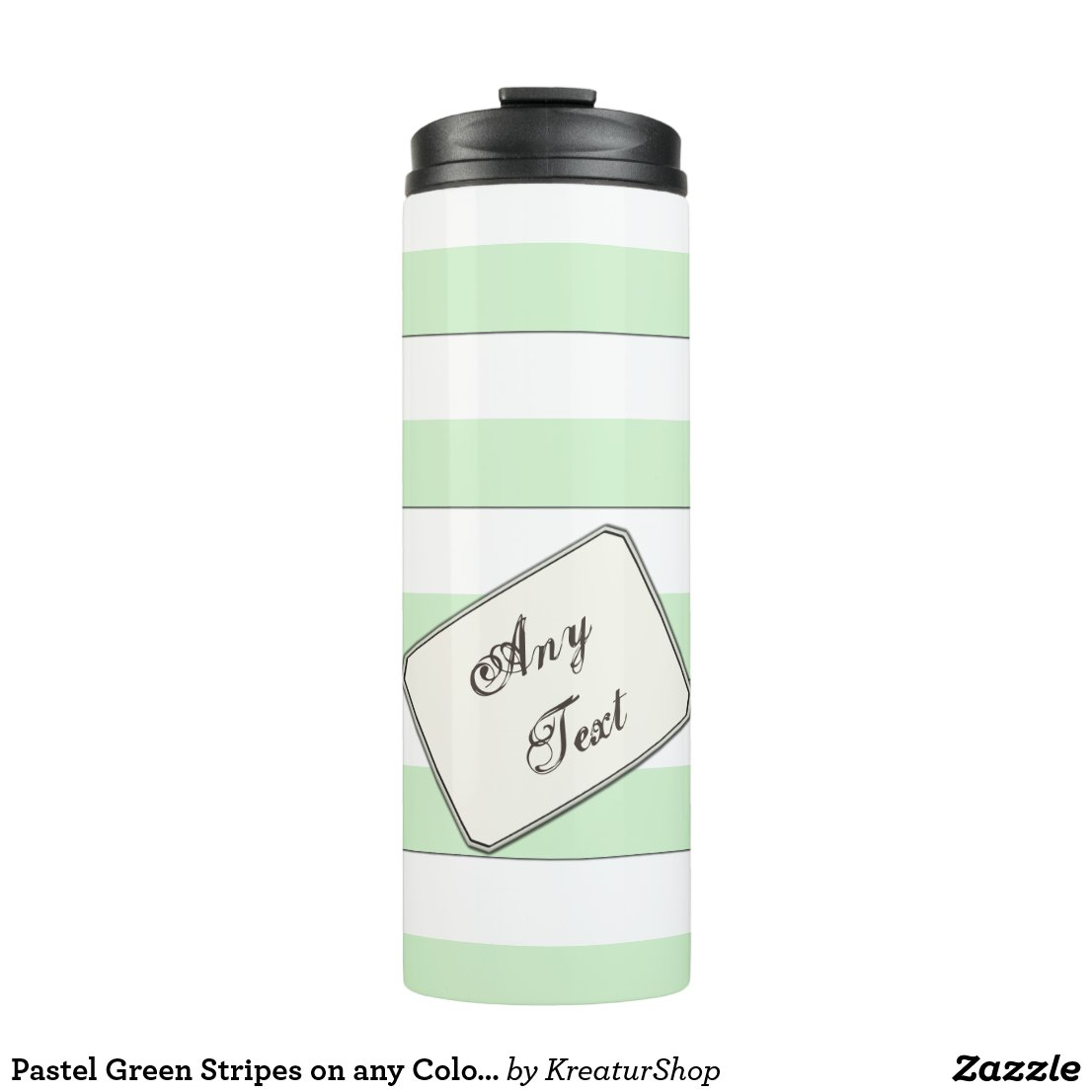 Pastel Green Stripes on any Color any Text