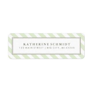 Labels - Pastel Green Stripes - Return Address Labels