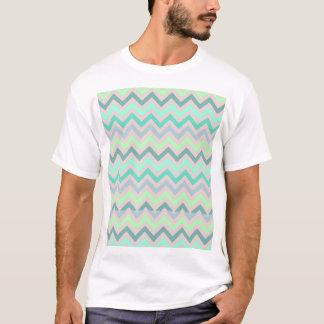 Pastel Green Teal Chevron T-Shirt