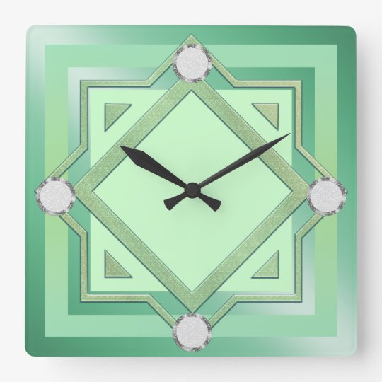 Pastel Green Toned Wall Clock