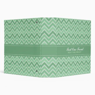 Pastel Green Tones Retro Chevron Pattern