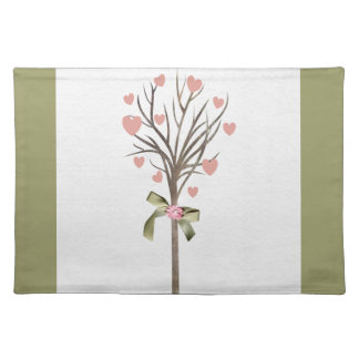 Pastel Green & Tree Hearts American MoJo Placemats