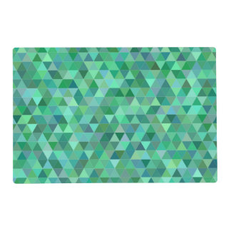 Pastel green triangles placemat