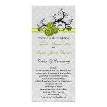 pastel green Wedding program